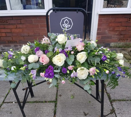 Pink and Purple Double Ended Casket Spray